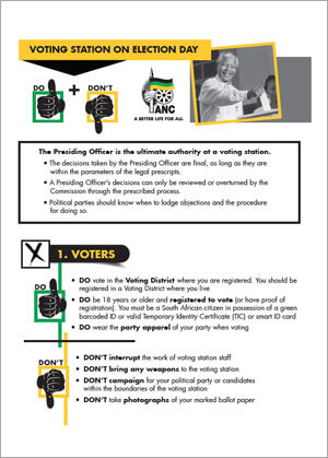 Do's & Don'ts at Voting Stations Guide
